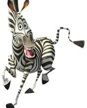 зебра улыбается